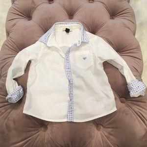 Toddler boy Armani button down